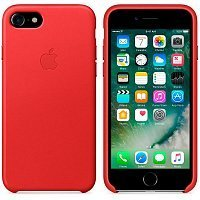 Чехол-накладка Apple Leather Case MMY62ZM/A Product для iPhone 7 Red