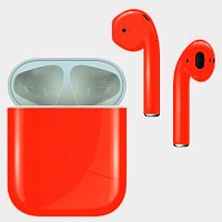 Bluetooth-наушники с микрофоном Apple AirPods Color Nightglow Red