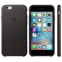 Чехол-накладка Apple Leather Case MKXW2ZM/A для iPhone 6/6s black