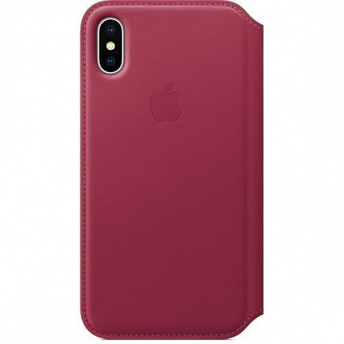 Чехол-книжка Apple Leather Folio MQRX2ZM/A для iPhone X Berry