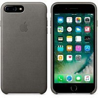Чехол-накладка Apple Leather Case MMYE2ZM/A для iPhone 7 plus Storm Gray
