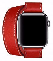 Ремешок Double Tour Hermes для Apple Watch 42mm Red