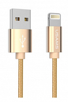 Кабель Usams U-Knit US-SJ029 USB - lightning gold