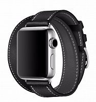 Ремешок Double Cuff Hermes для Apple Watch 42mm Black
