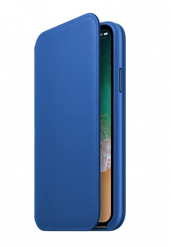 Чехол-книжка Apple Leather Folio MRGE2ZM/A Electric Blue для iPhone X