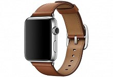 Ремешок Apple MPWT2ZM/A Classic Buckle Saddle Brown для Watch 42mm