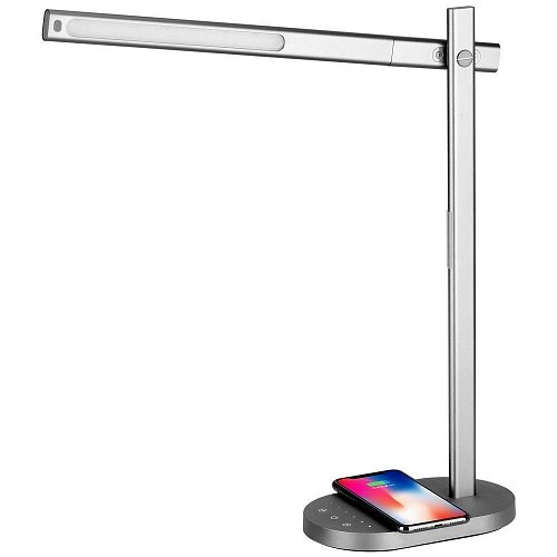 Лампа Momax Q.LED Desk lamp with wireless charging bas (с адаптером)