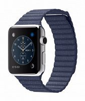 Ремешок Leather для Apple Watch 42mm blue
