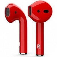 Bluetooth-наушники с микрофоном Apple AirPods Color red